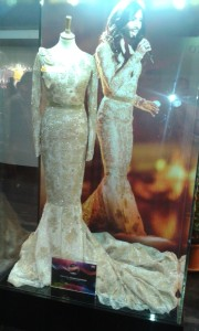 Suknię Conchity Wurst z zeszłorocznej Eurowizji można było oglądać w gablocie w wiedeńskiej Stadthalle, gdzie odbywał sie tegoroczny konkurs
